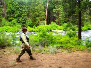 Dad on the Metolius
