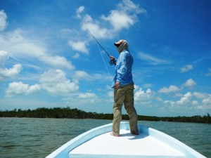 Me, casting, in Belize.