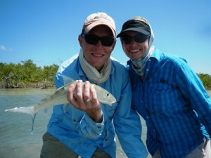 bks and renee with bonefish Belize