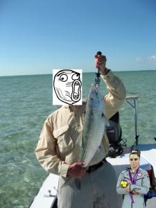 Damn nice fish and damn poor idea to boga that damn nice fish.
