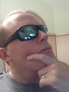 Revo shades on our handsome model.