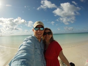 Happy in the Bahamas, a scene now likely to be repeated.