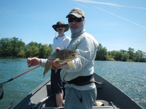 Shane with another fish.