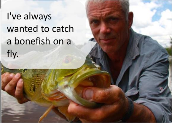 Jeremy wade goes bonefishing bonefish on the brain for Jeremy wade fishing rod