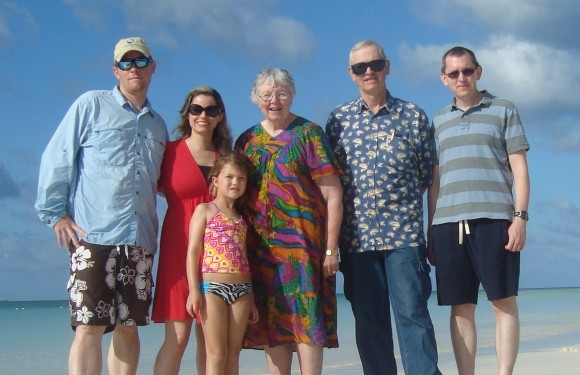 The clan in Grand Bahama in 2013