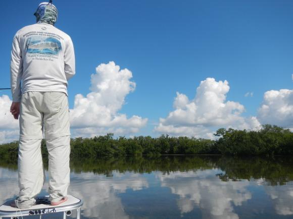 Dan on deck. Everglades before us.