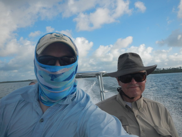 My dad and me in Abaco