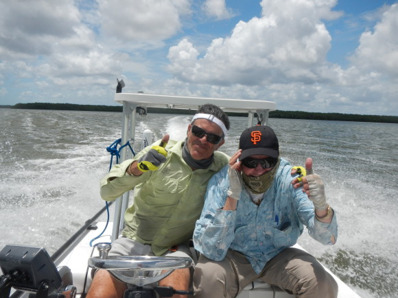 Martin and my Dad, in the Glades.