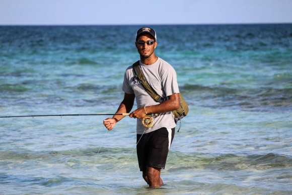 Justin Lewis in the Bahamas